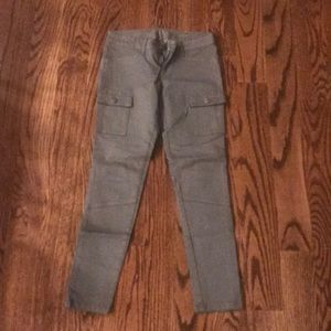 DL 1961 army green cargo jeans